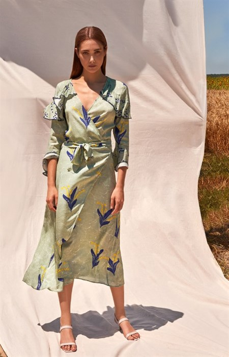 Muguet Wrap Dress